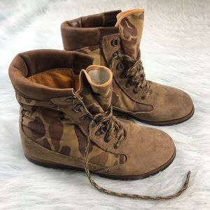 Vintage 90's Rocky Duck Hunter Camo Boots Men 9.5